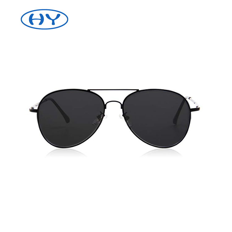 Classic Pilot Mirrored Flat Lens Sunglasses Metal Frame with Spring Hinges