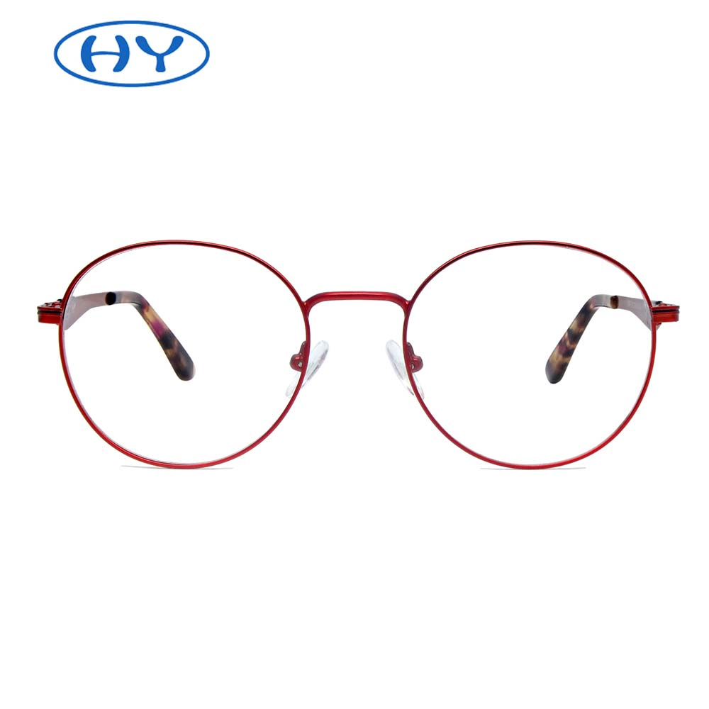 Women Round Optical Metal Frame Hot Sale Stock Available Super Light Weighted