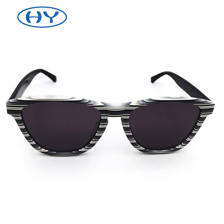 2019 New Arrival Sun Glasses Men Acetate Frame with Stripes