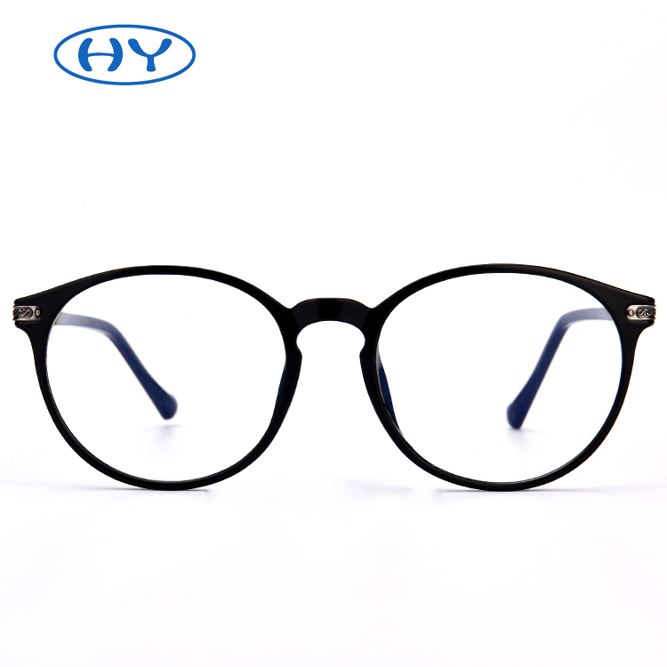 Round Clear Acetate Frame Glasses